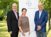 Christof Hollmann (Leiter der Abteilung Tiergesundheit bei Bayer Austria), Mag. Claudia Hochleithner (Exotentierärztin), Dr. Manfred Hochleithner (Präsident der VÖK); Bildquelle: Bayer Austria/APA Fotoservice Hörmandinger