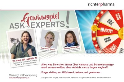 "Gewinnspiel ""Ask the experts!"""