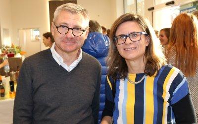 Dr. Ignacio Lanza mit Gerda Tiefenbacher-Magerl von der AniCura Austria Holding GmbH; Bildquelle: VET-MAGAZIN.at/Thomas Zimmel
