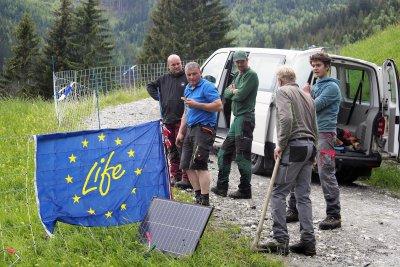 Erster Einsatz des Beutegreifer-Notfallteams Österreich Mitte; Bildquelle: HBLFA Raumberg-Gumpenstein