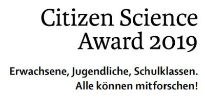 Citizen Science Award 2019