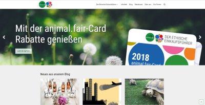Webauftritt für den Ethischen Einkaufsführer von animal.fair