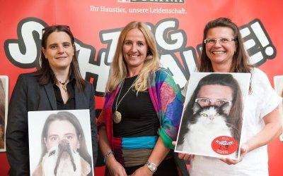 v.l.n.r. Sonja Müllner (Tierheim Pfotenhilfe Lochen - Oberösterreich), Annemarie Hurban (TierQuarTier Wien), Claudia Herka (Tierheim Parndorf - Burgenland); Bildquelle: Purina Petcare