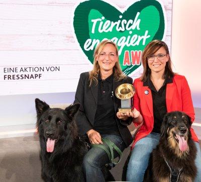 Eva Wistrela-Lacek und Sandra Dressel von der Tierärztlichen Versorgungsstelle Neunerhaus; Bildquelle: Fressnapf Österreich/Anna Rauchenberger