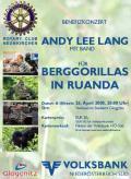 Benefizkonzert von Andy Lee Lang für die Berggorillas und Endangered