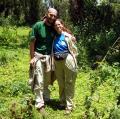 C+M Hochleithner in Ruinen vom Haus von Dian Fossey