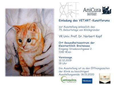 Vernissage mit Kunst der Tierärztinnen und der Tierärzte am 12. Dezember 2019 im Gesundheitszentrum der Kleintierklinik Breitensee