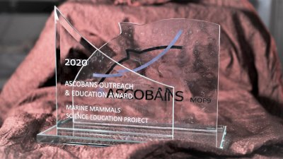 ASCOBANS Outreach and Education Award 2020; Bildquelle: Frederic Soudan